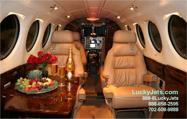 King Air 200 Empty Leg Deals and Last minute specials offered by Lucky Jets 702-508-9888