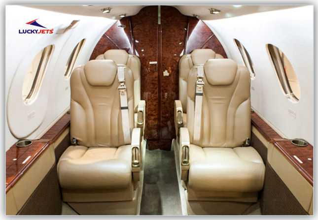 Luxurious 6 passenger Jet | Private Jet Charters to Las Vegas | LuckyJets.com | 888-858-2595